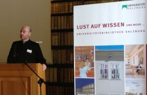 Fr. Daniel Findikyan lectures at the University of Salzburg last week on Armenian Monasticism.