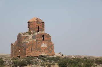 The 7th century Armenian Cathedral of Mren looking west-northwest.