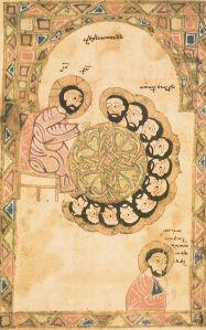 Erevan, Matenadaran, MS 316, Gospel, Arts'akh, XIVth century, Last Supper. Photo: Ara Güler.