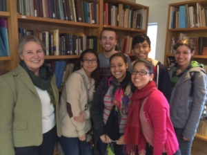 """Theology students from St. Peter's University, Jersey City, NJ with Prof. Susan Graham, Associate Professor of Theology on """"pilgrimage"""" at the Zohrab Center."""