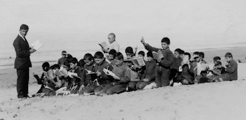 Armenian orphans in an ad-hoc desert classroom in the aftermath of the Genocide. Courtesy of Bared Maronian