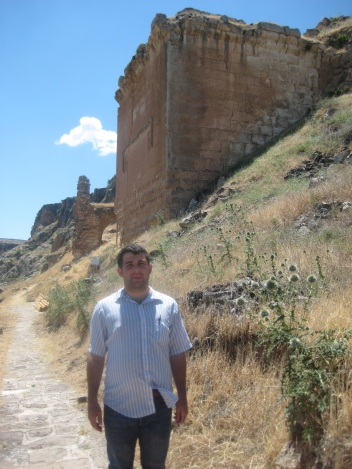 Deacon Christopher Sheklian at the Armenian fortress of Hromkla in Turkey. He will lecture at the annual Saints Vartanants commemoration at the Armenian Diocese in New York.