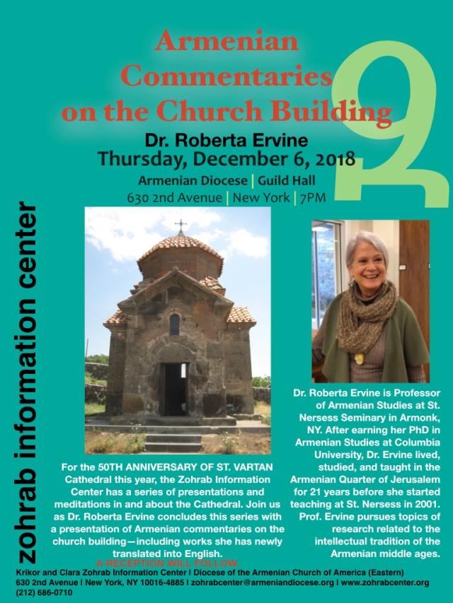Armenian Commentaries on the Church Building Dr Ervine ZIC Presentation 12.6.001